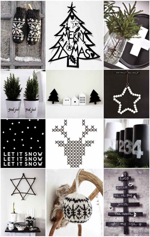 Marta decoycina deco navidad en blanco y negro for Corredor deco blanco y negro