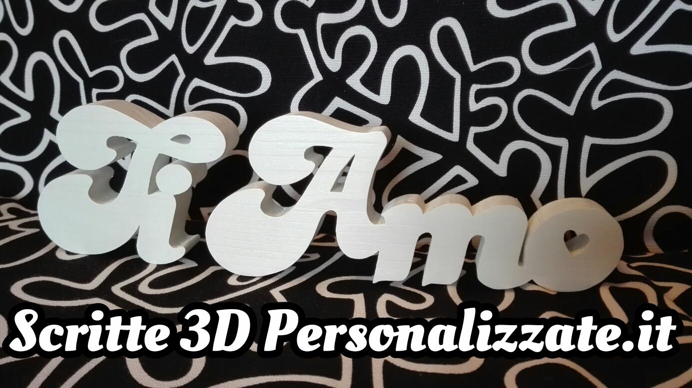 Sritte 3d personalizzate in legno scritte in legno for Scritte in legno nomi