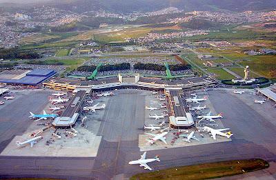 Pátio externo do aeroporto de Guarulhos - SP