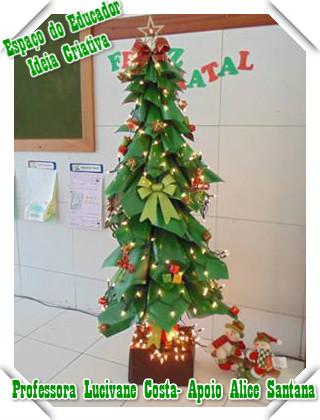 Árvore Natalina com Material Reciclável Projeto Natal Espaço do Educador
