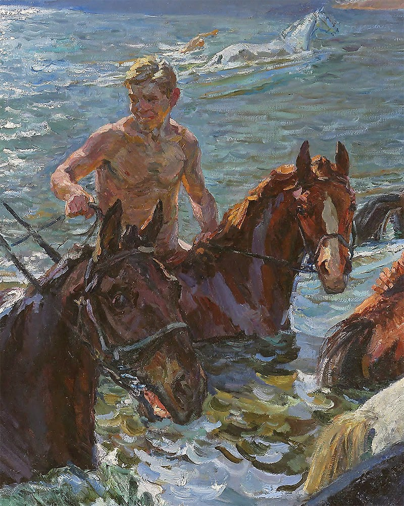 Arkady Plastov The creation  athing the Horses