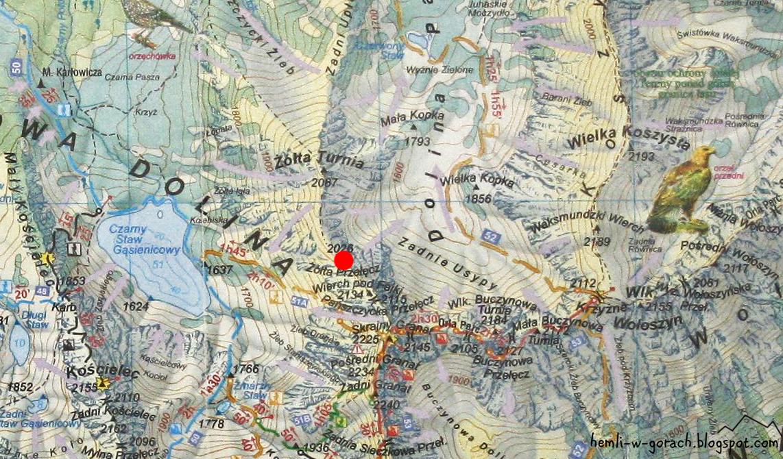 Zółta Przełęcz na mapie
