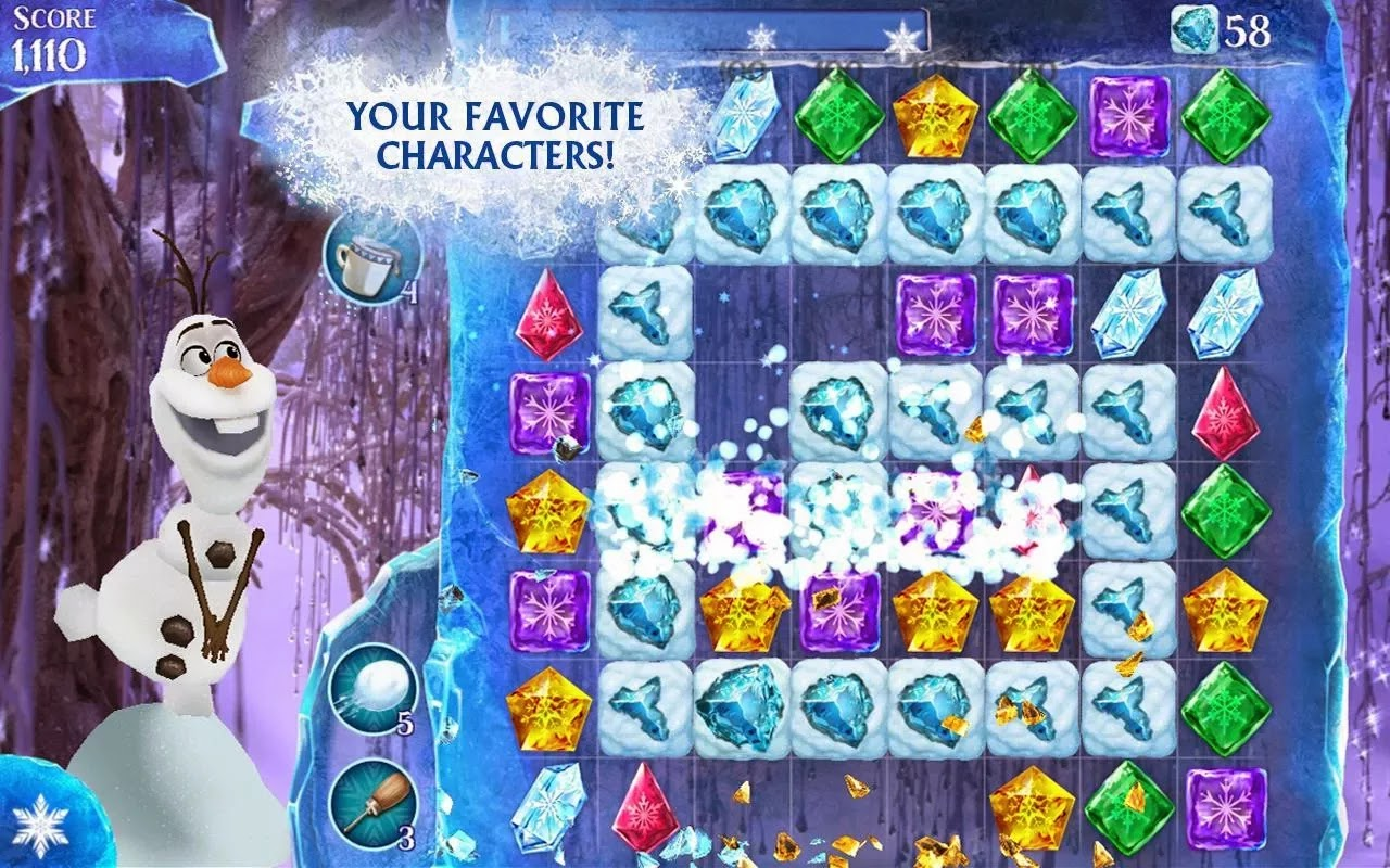Frozen Free Fall Free Game | Puzzle