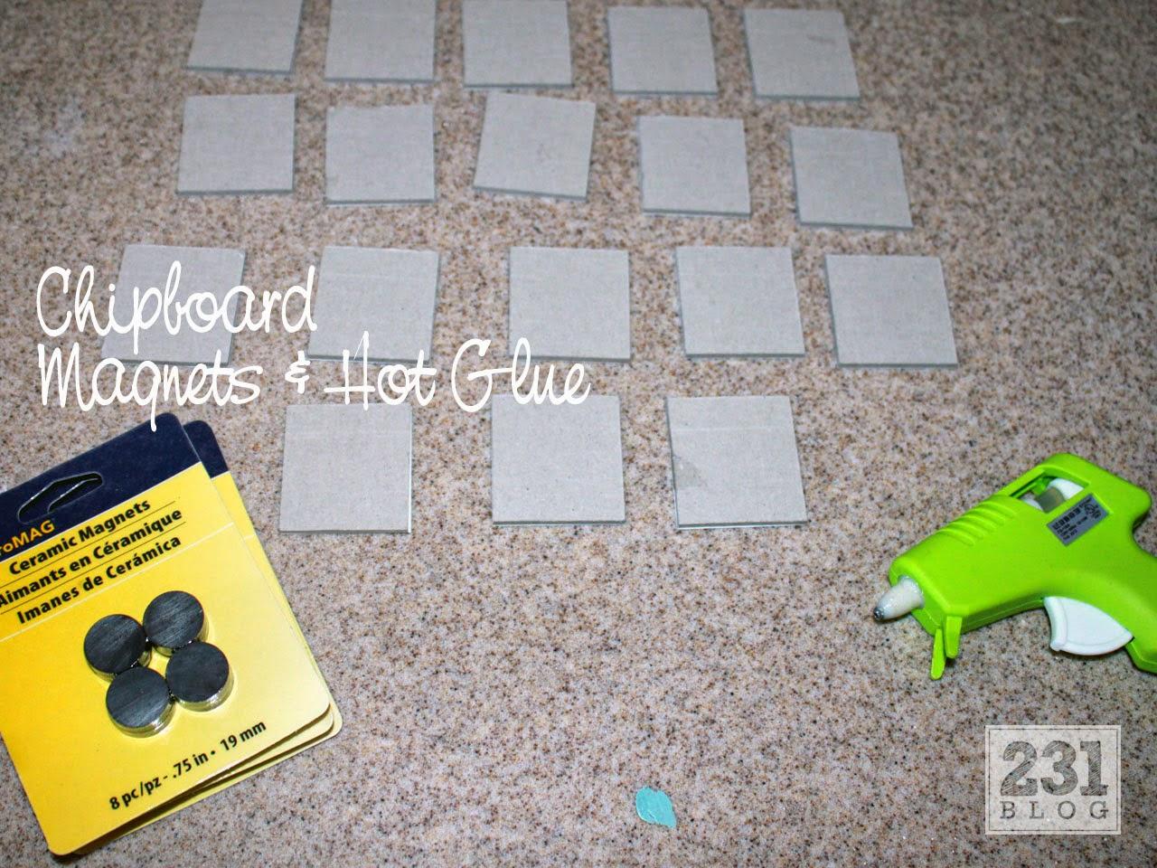DIY Instagram Magnets on Chipboard