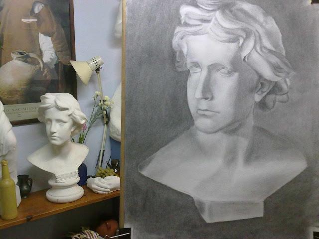busto de estudio de arte