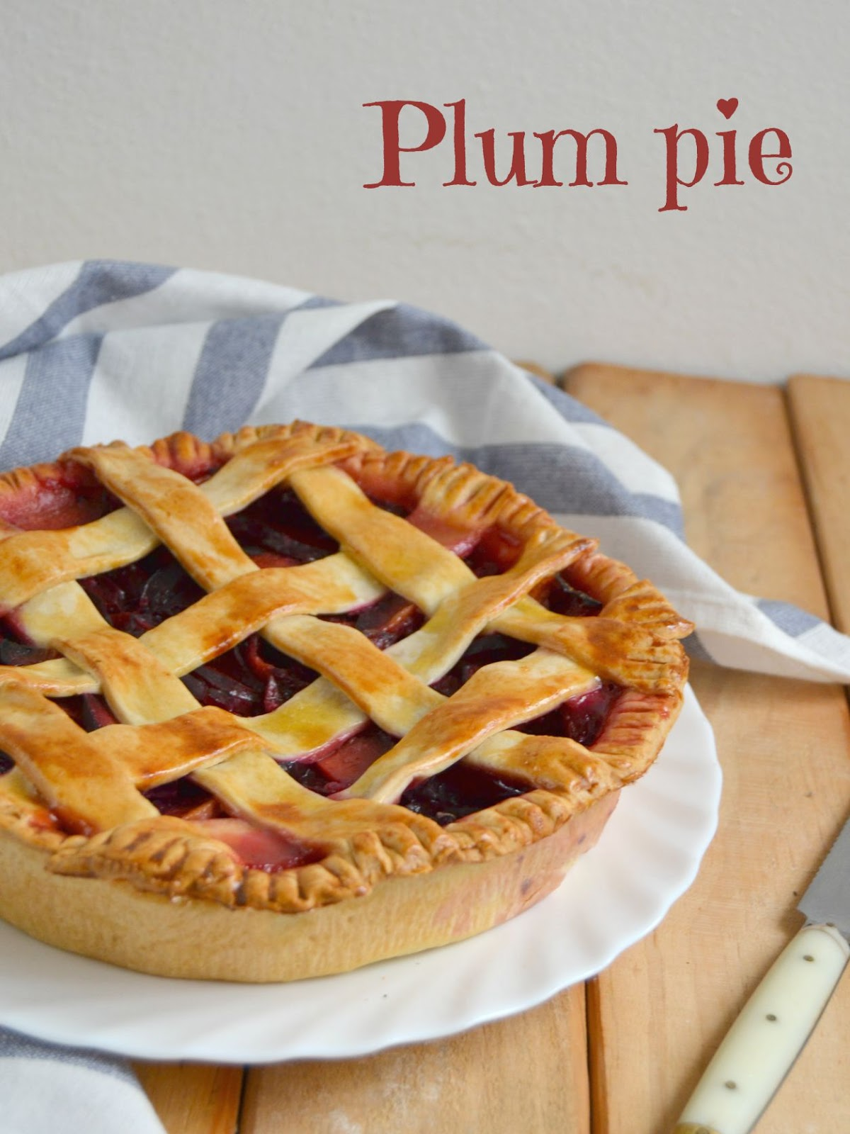 Pastel americano de ciruelas. Plum pie | Cuuking! Recetas de cocina