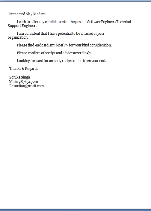 template cover letter