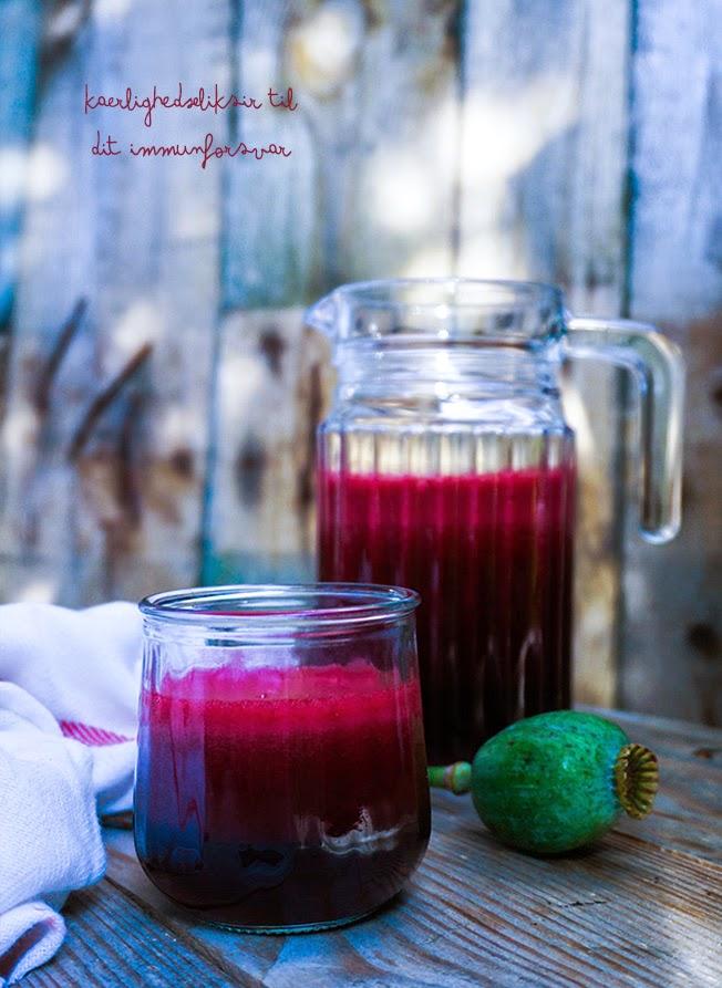 Rødbedejuice med brombær - kærlighedseliksir til immunforsvaret