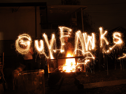 guy fawkes night Guy fawkes night is celebrated in britain annually on november 5th the event is accompanied by firework displays, the lighting of bonfires and the ceremonial effigy-burning of one guy fawkes.