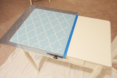 How To Paint & Stencil Furniture: Great tutorial!