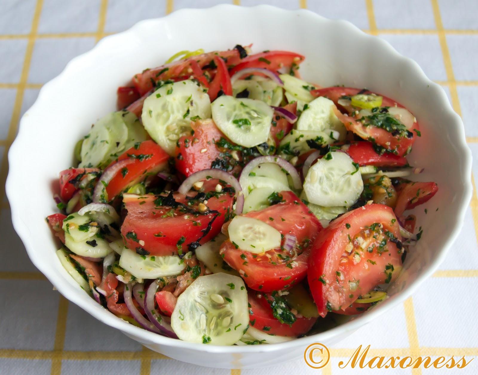 Кавказский салат рецепт пошагово