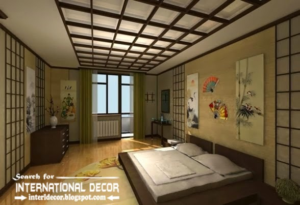 Japanese bedroom ceiling designs, Coffered ceiling style, Japanese ceiling design