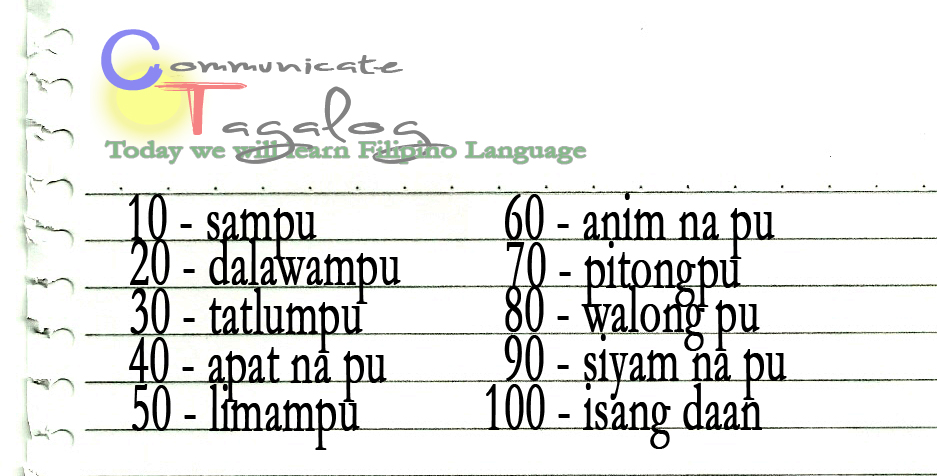 Communicate tagalog ct lesson 16 how to count 10 20 30 to ct lesson 16 how to count 10 20 30 to 100 in tagalog m4hsunfo Gallery