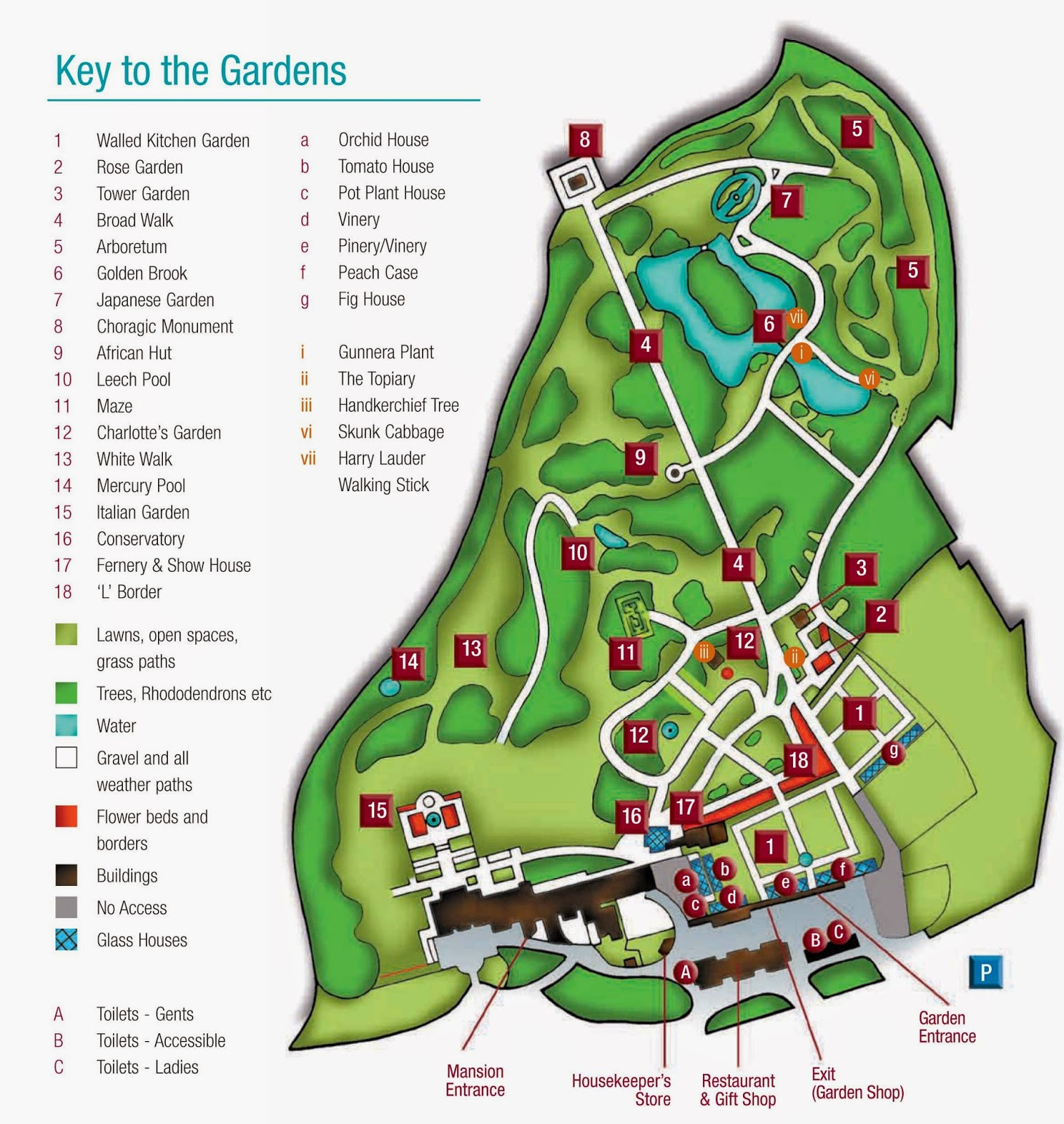 Tatton Park Garden Map