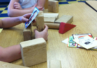 Building with cards and blocks (Brick by Brick)