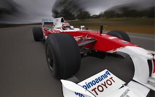 Sport bureaublad achtergrond met Formule 3 wagen.
