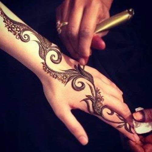Khaleeji Henna Mehndi Designs For Mix Gallery Photo