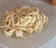 Receta Pasta seca con salsa de cebollas