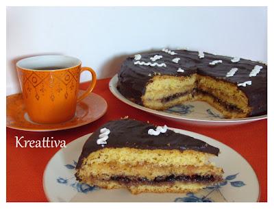 Torta cioccolatosa con marmellate
