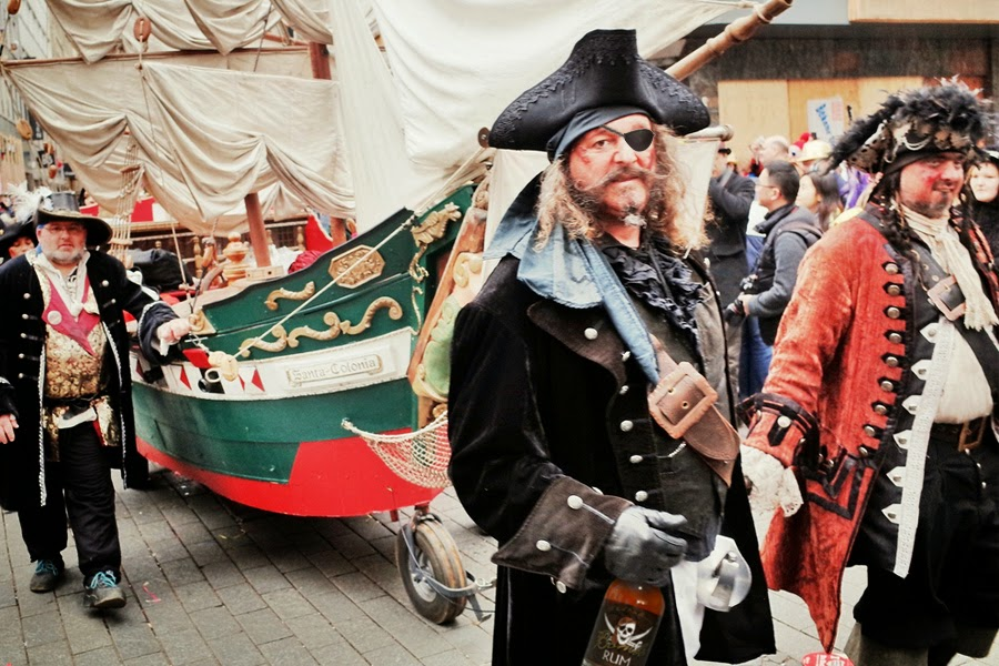 Drunkard pirate enjoys only time of the year in which he can show on the road