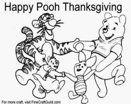 Free Thanksgiving Coloring Pages To Print Winnie the Pooh