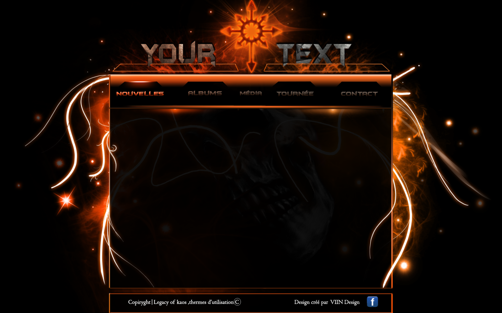 template overlay of site by Viin