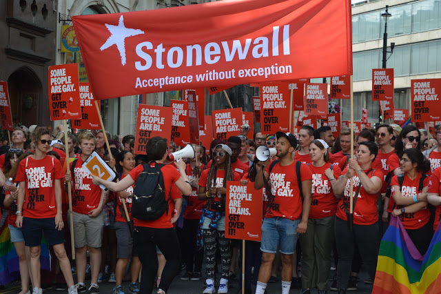 Stonewall some people are gay posters at London Gay Pride 2015