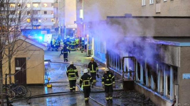 Salah Satu Masjid di Swedia Dibakar Saat Dzuhur