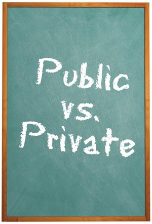 Private vs Public Schools Charts