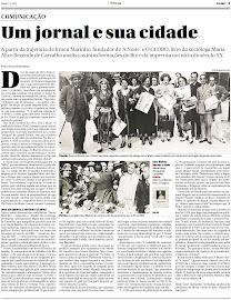 """Resenha do livro """"Irineu Marinho - Imprensa e Cidade"""" publicada no Globo em 01 de dezembro de 2012"""