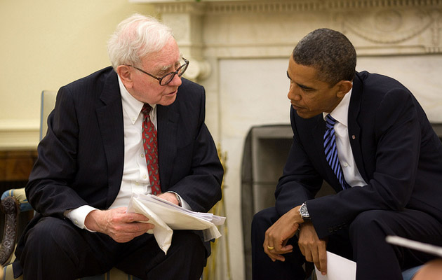 obama buffett white house flickr