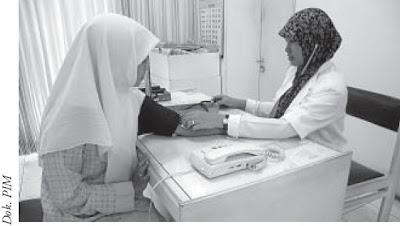 Menggunakan sphigmomanometer dalam mengukur tekanan darah