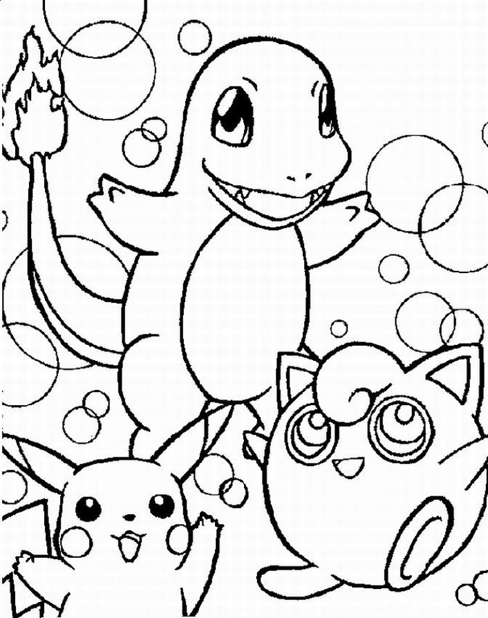Pokemon Coloring Pages Team colors