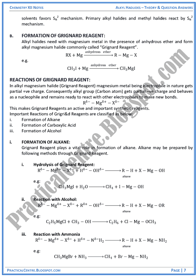 alkyl-hadlides-theory-and-question-answers-chemistry-12th