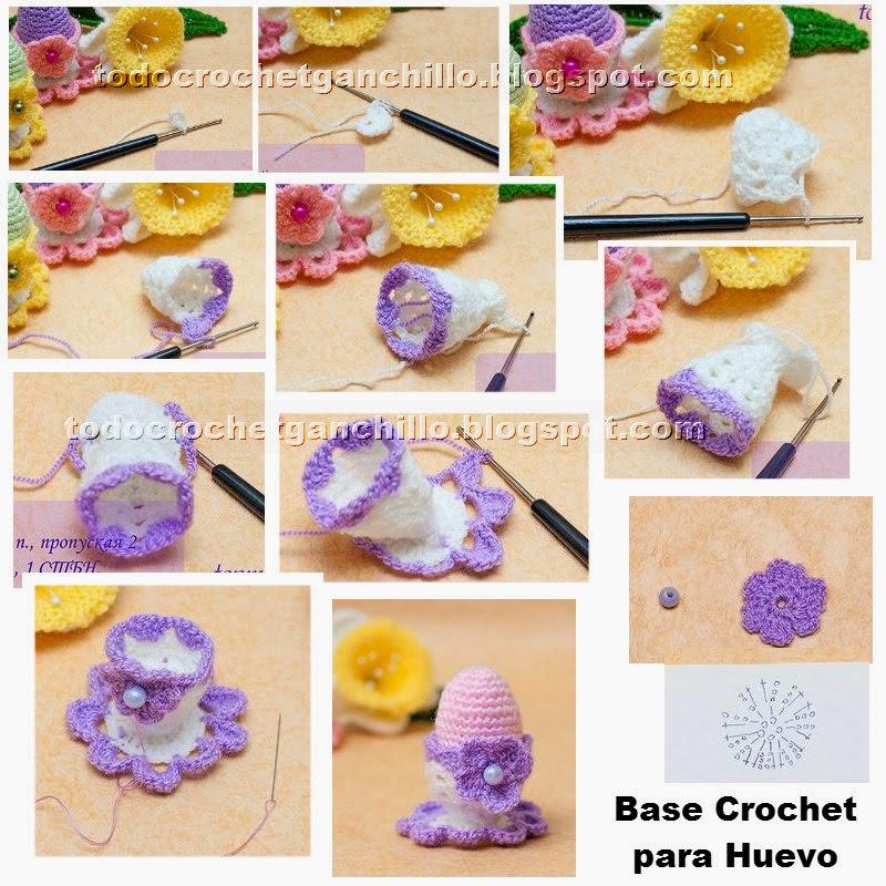 Cómo tejer una Base Crochet para Huevo | Todo crochet