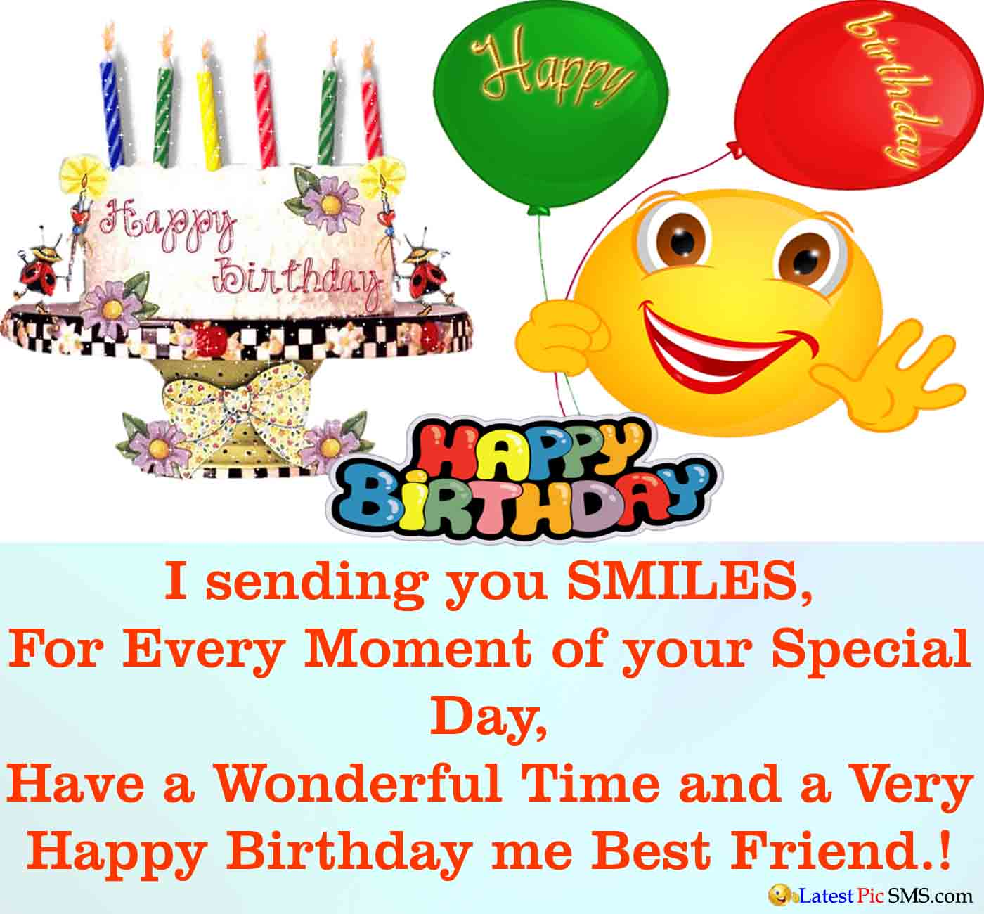 Happy Birthday Wishes For Best Friend Latest Picture Sms