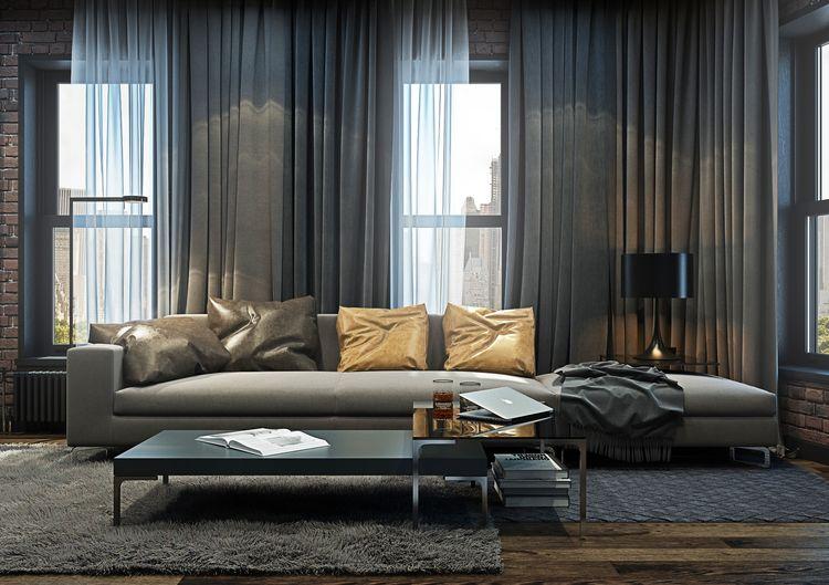 Modern loft apartment in brooklyn by yo dezeen home img for Modern apartment loft