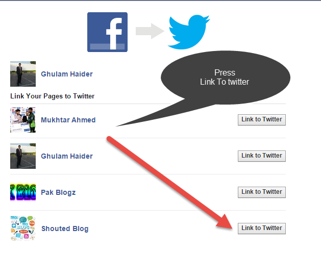How to Connect Or Link Facebook Page To Twitter Account