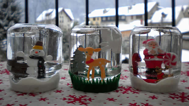 Snow globe arts crafts activity s o s mom - Fabriquer des decorations de noel ...