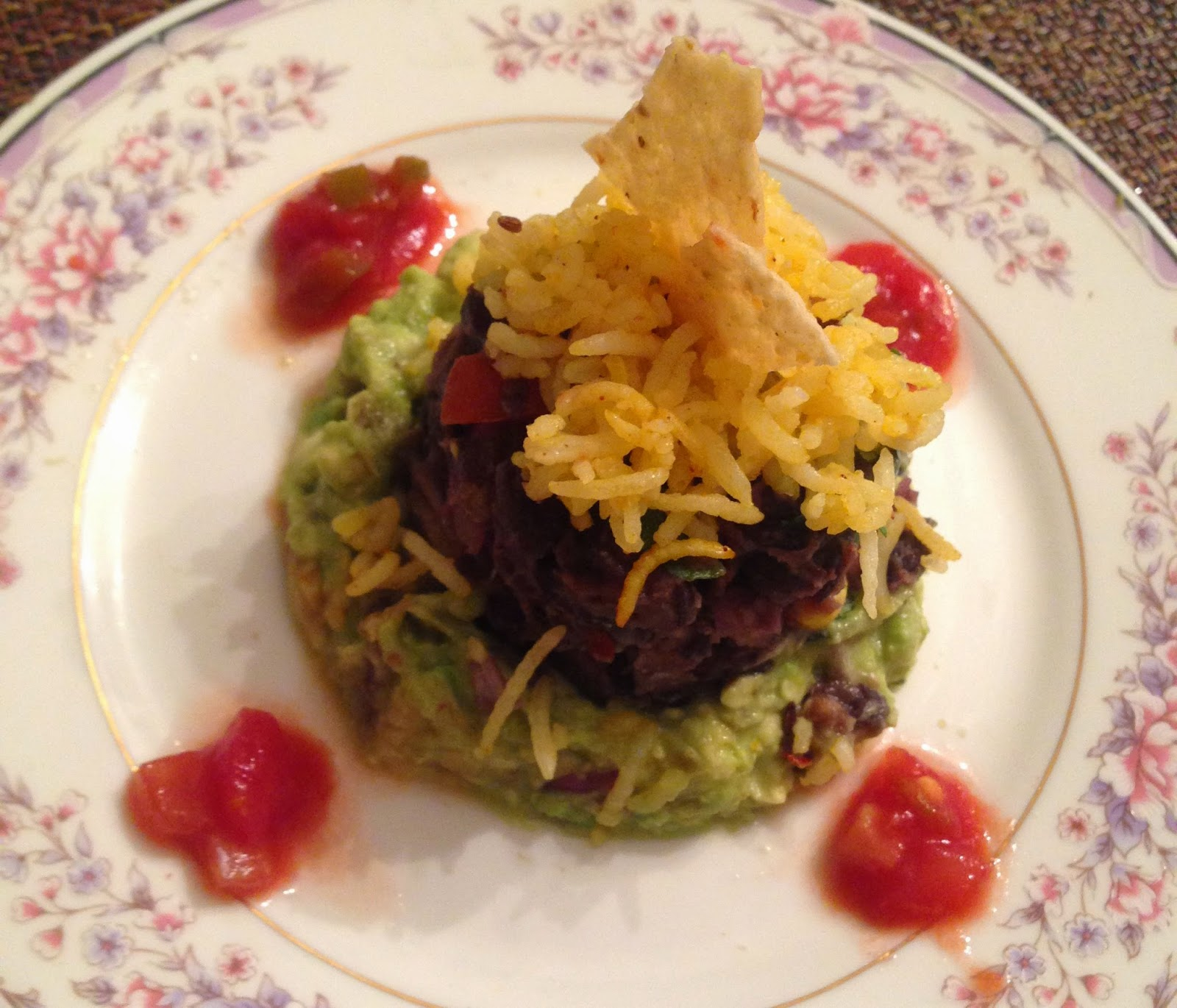 Spicy Black Bean & Salsa Tartare with Guacamole