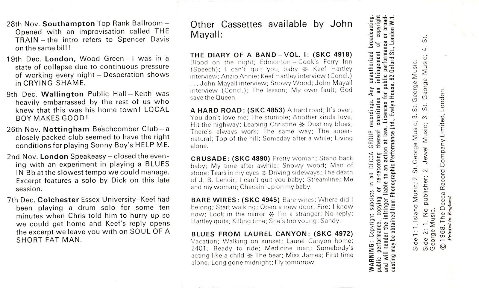 Cassette Cover Art Library: John Mayall & the Bluesbreakers