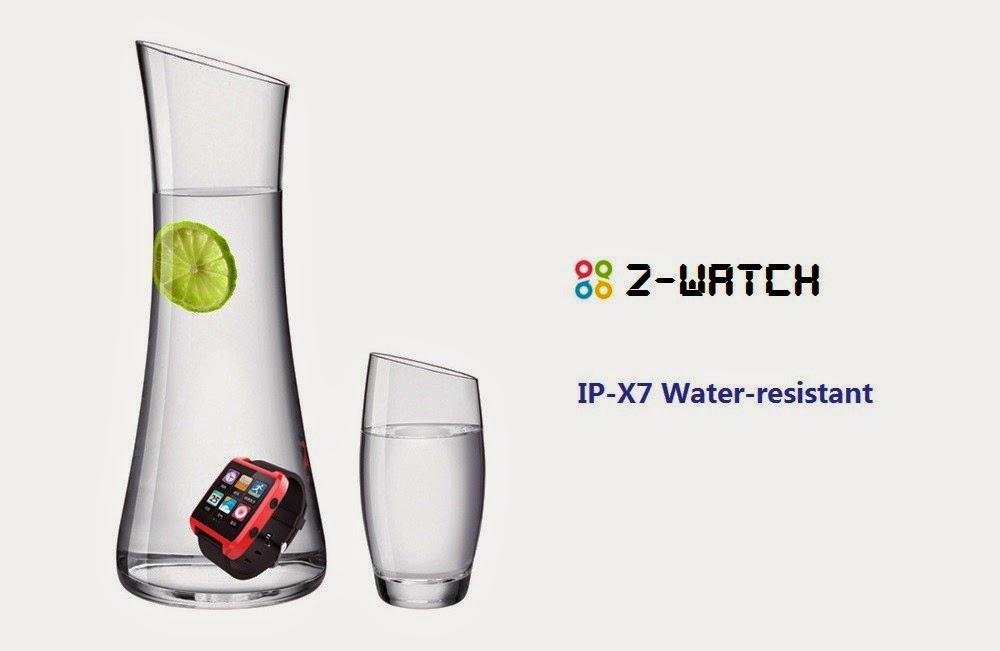 El Z Watch resiste durante 30 minutos sumergido a 1m de profundidad.