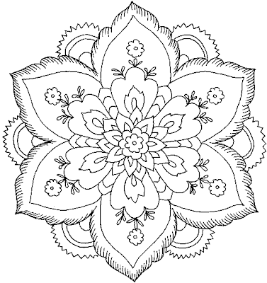 Flower Coloringfree Printable Coloring on english garden border design html