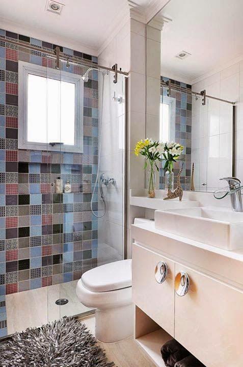 Construindo Minha Casa Clean Casa Clean e Rústica! -> Banheiro Com Pastilha Atras Do Vaso Sanitario