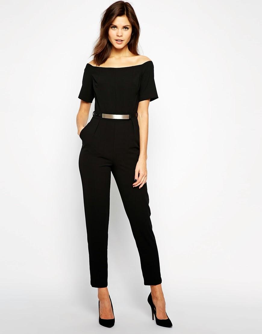 warehouse black jumpsuit