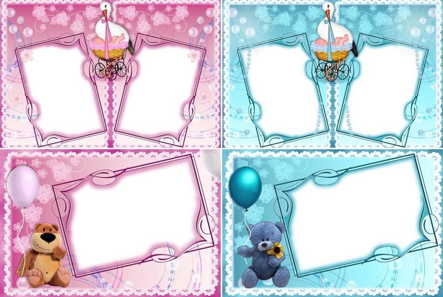 Recursos Photoshop Llanpac: Coleccion de plantillas de bebes (Psd y Png)