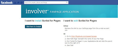 Add Scribd for Pages to your Fan Page