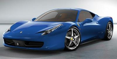 ferrari 458 italia blue perfect view - Ferrari 458 Blue Wallpaper