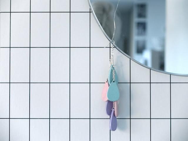 DIY spegel, Uhana design pisara, Ferm living tapet