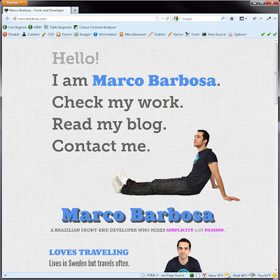 Screen shot of http://marcobarbosa.com/.